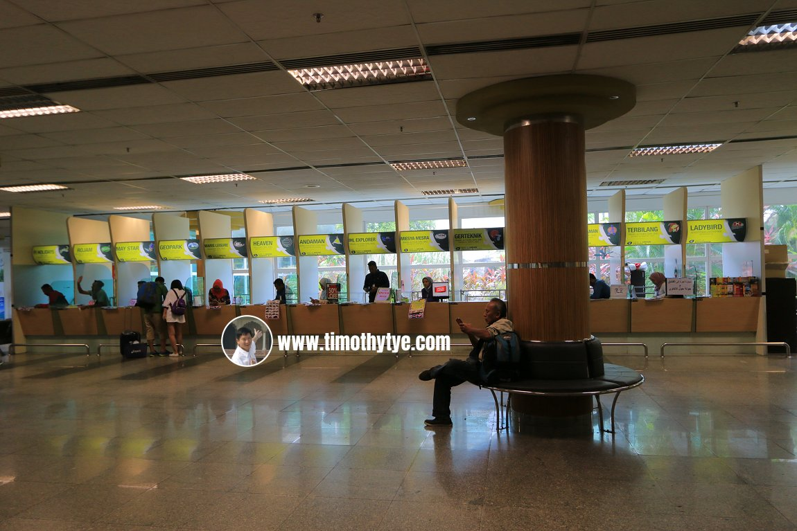 Car Rental Kiosks at the Arrival Hall of Langkawi International Airport