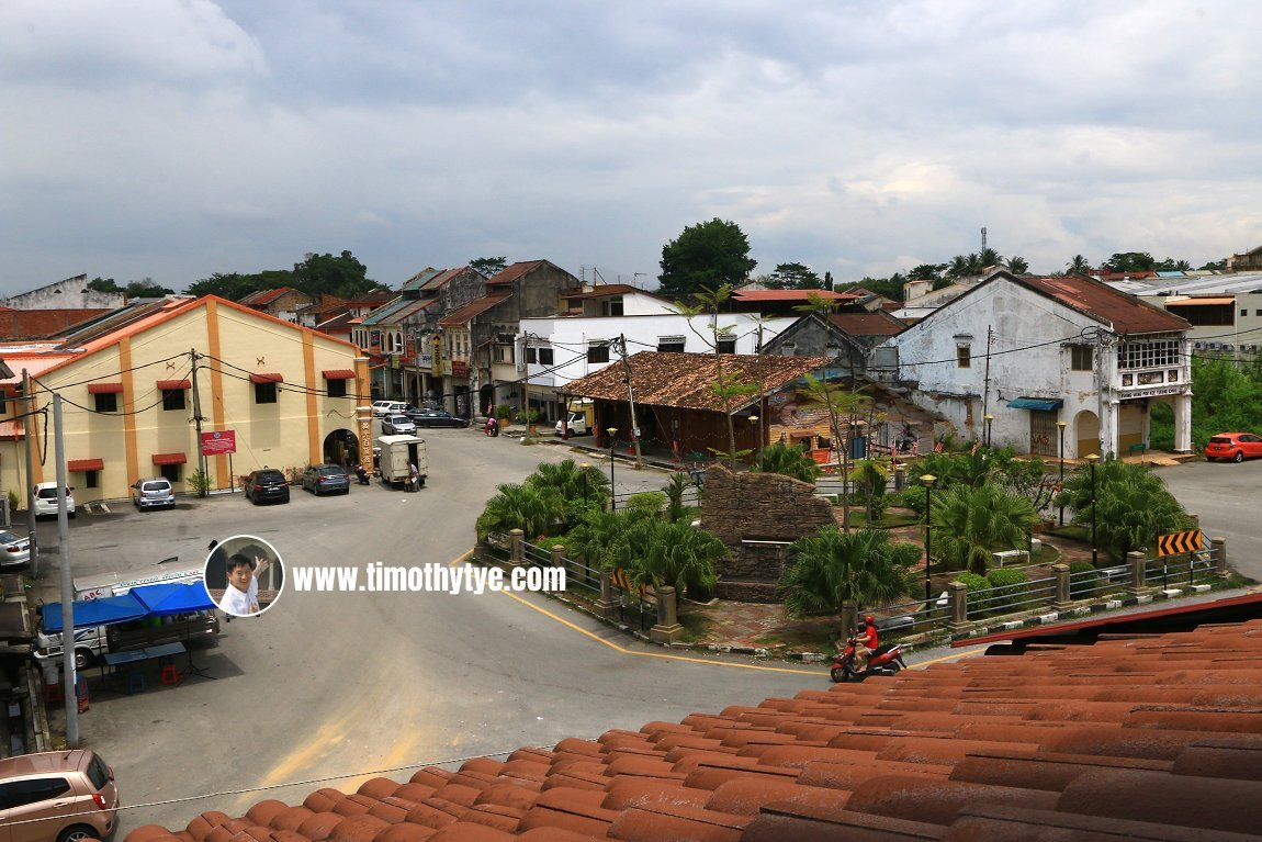 View of Gopeng town centre from Heritage House