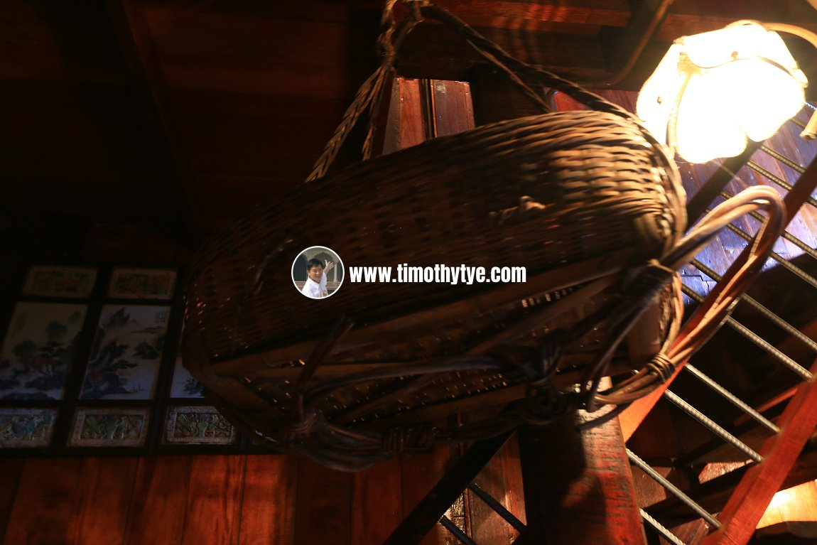 Wicker basket for hauling goods upstairs