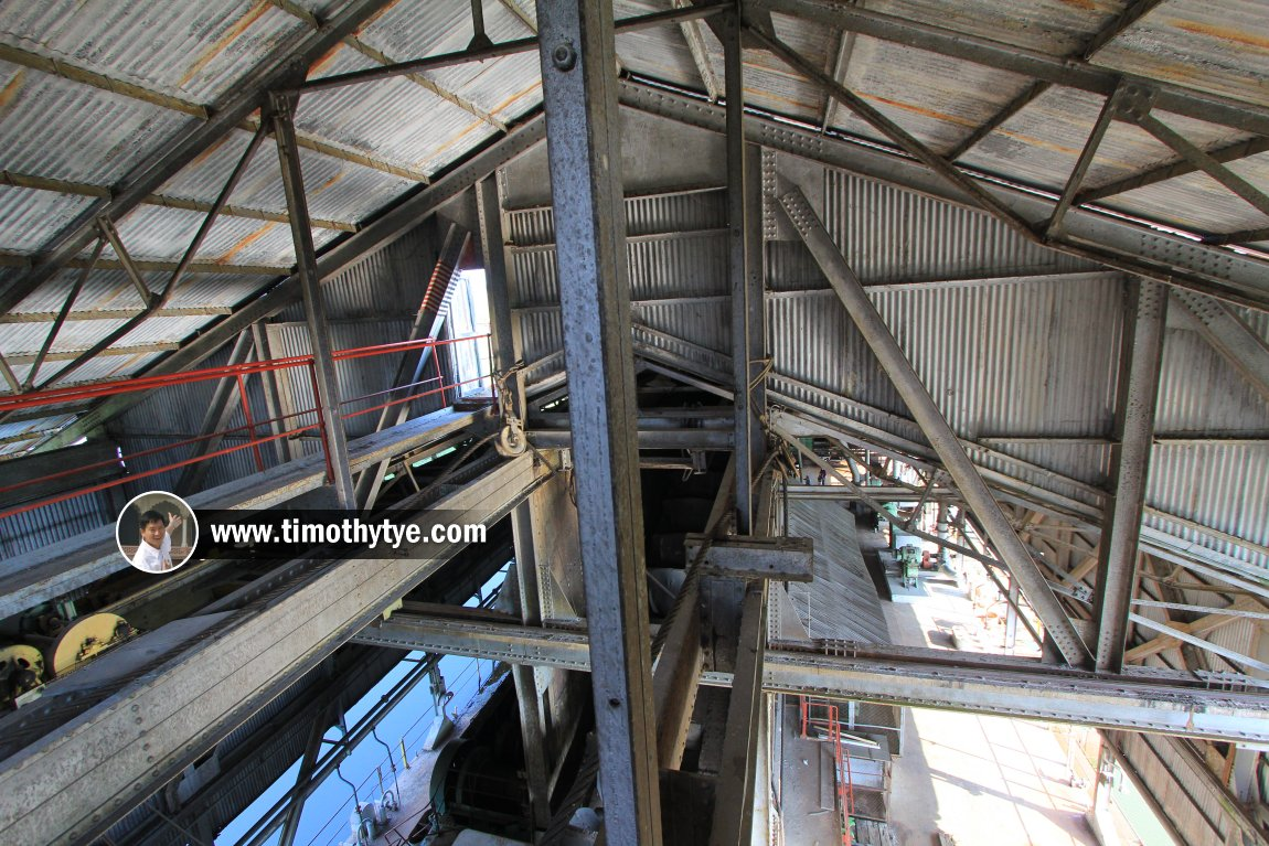 Bird's-eye view of the Tanjung Tualang Tin Dredge interior