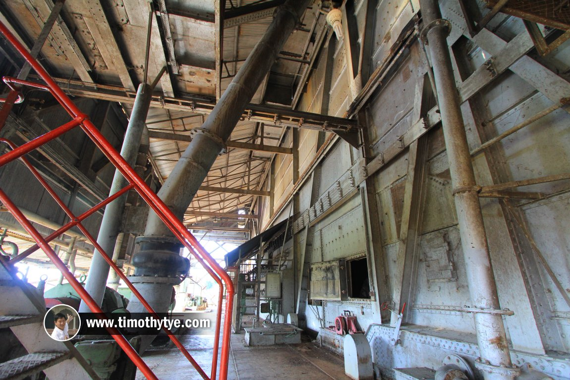 The cavernous interior of the Tanjung Tualang Tin Dredge