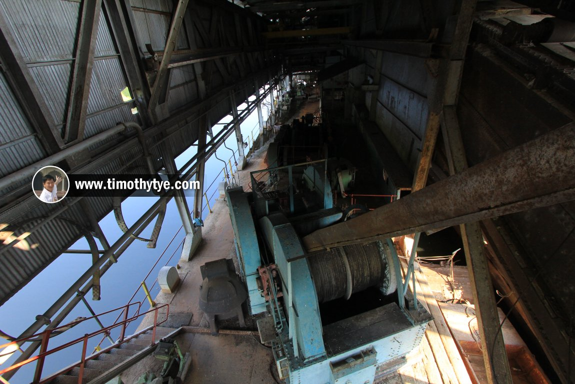 Gigantic roller coils of the tin dredge