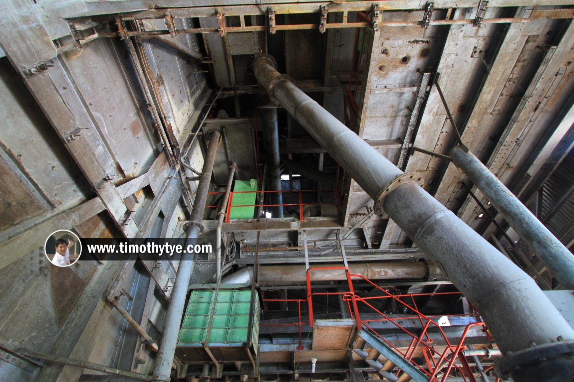 A massive funnel within the tin dredge