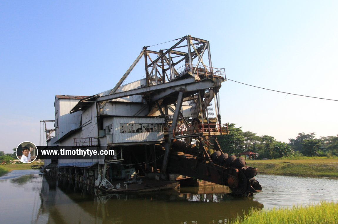 Front view of the Tanjung Tualang Tin Dredge