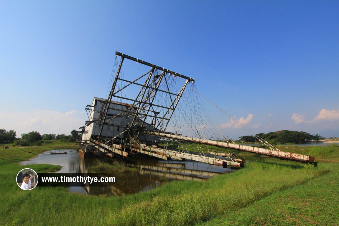Rear view of the Tanjung Tualang Tin Dredge