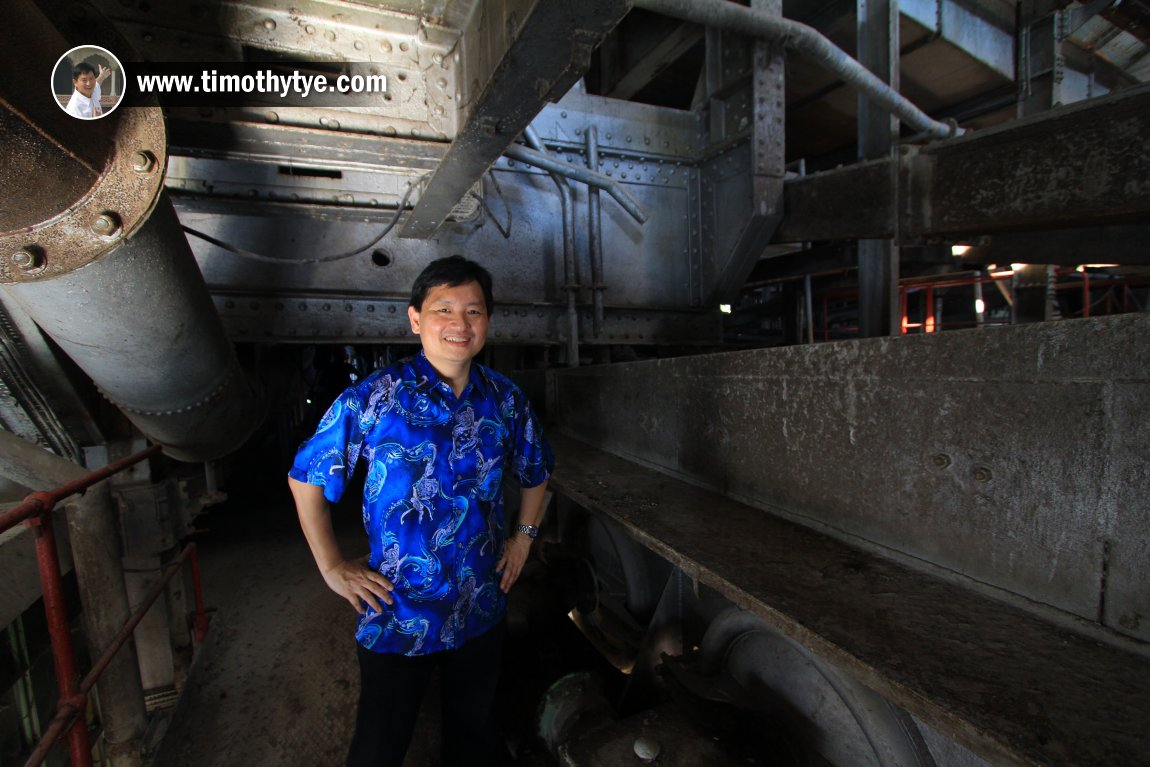 Timothy Tye at the Tanjung Tualang Tin Dredge