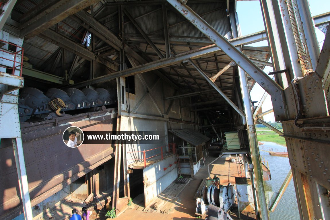 The vast interior of Tanjung Tualang Tin Dredge