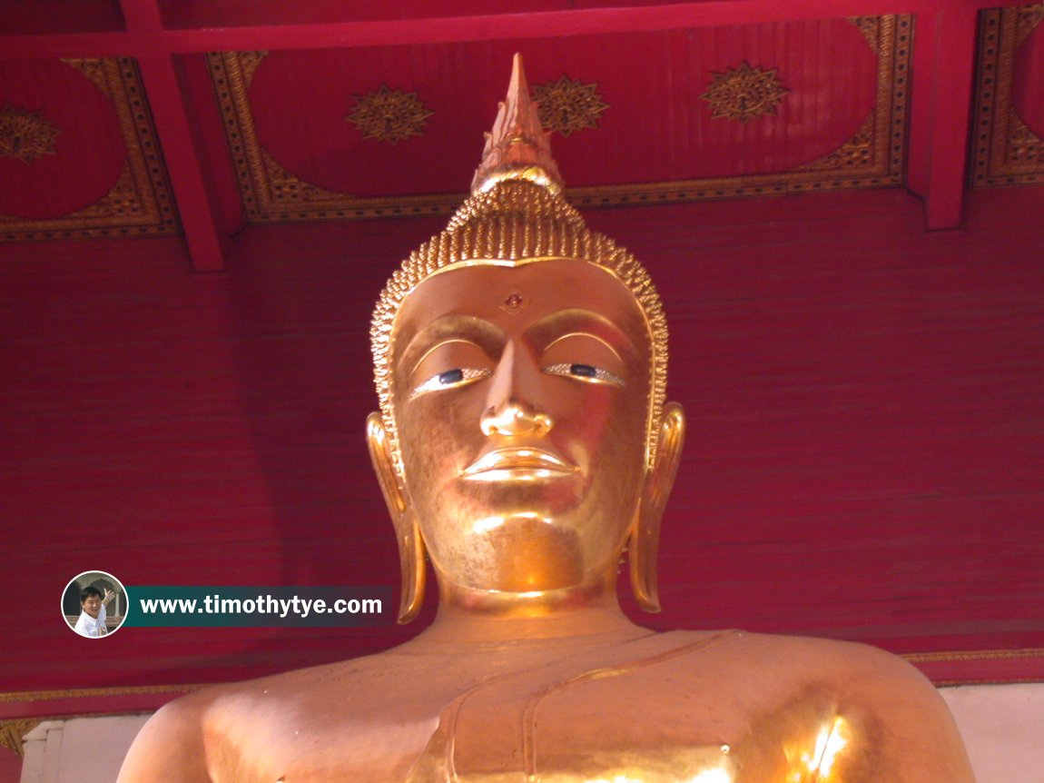 Phra Mongkhon Bophit, the giant Buddha statue in the wihan that bears its name