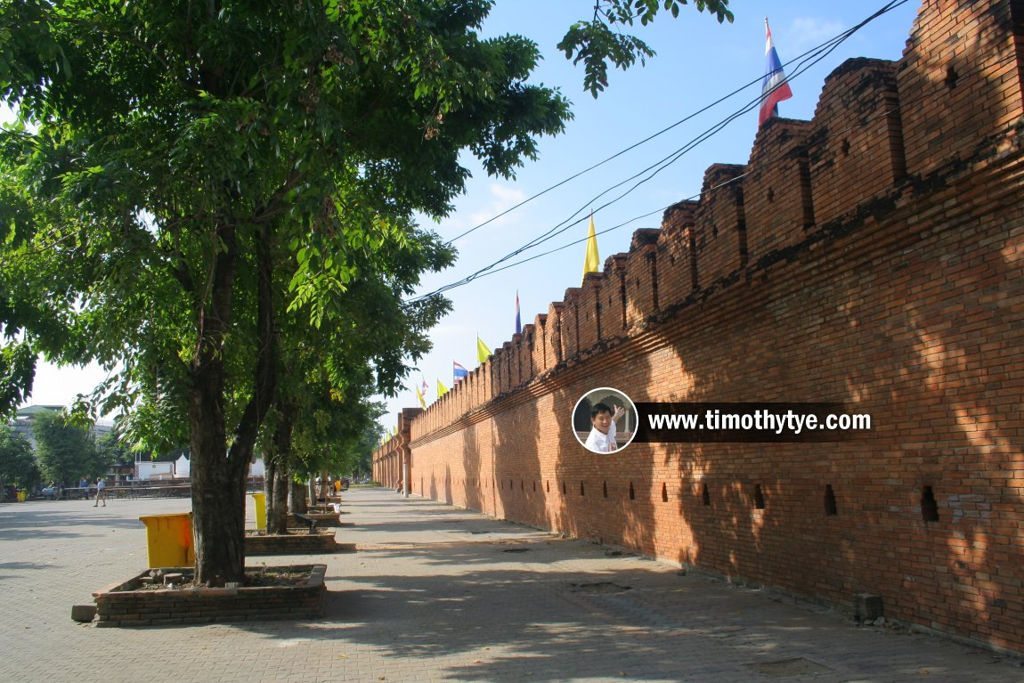 Remains of the old fortification of Chiang Mai