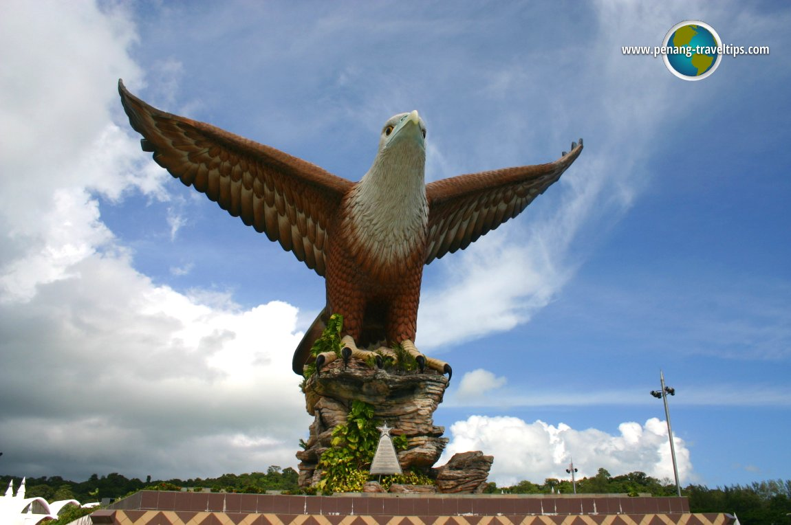 Eagle statue at Dataran Lang, Kuah